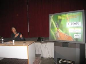 Constantí Stefanescu a la conferència sobre papallones